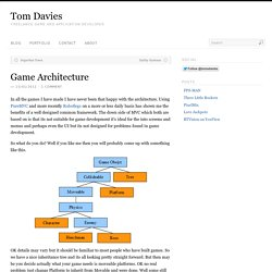 Game Architecture | Tom Davies