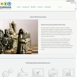 Game-Based Learning | OER Commons