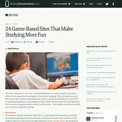 24 Game-Based Sites That Make Studying More Fun