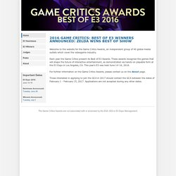 Game Critics Awards