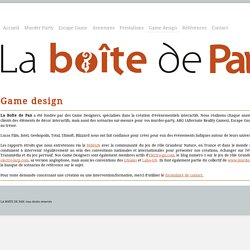 Game design - la Boîte de Pan