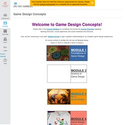 Game Design Concepts
