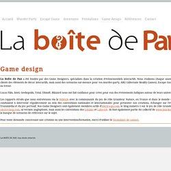 Game design - la Boîte de Pan