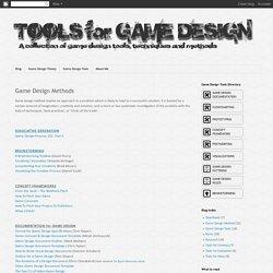 Tools for Game Design: Game Design Methods