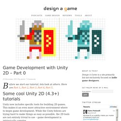 Game Development with Unity 2D - Part 0 - Design a Game