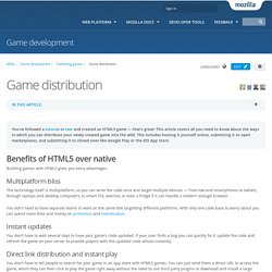 Game distribution - Game development