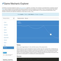 Game Mechanic Explorer