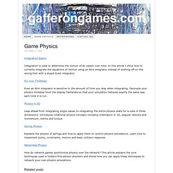Game Development Tutorials – Game Physics