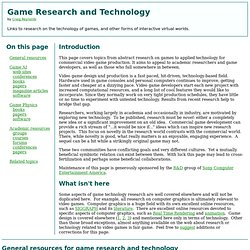 Game Research and Technology