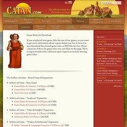 Official Site - Downloadable PDF Rules for Catan Games - Catan.com