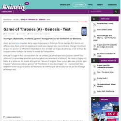 Game of Thrones (A) - Genesis - Test