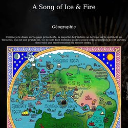 Game of Thrones - Géographie
