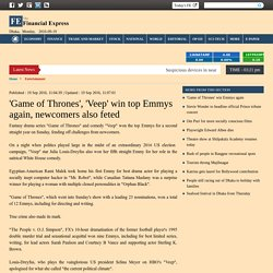 'Game of Thrones' win Emmys again