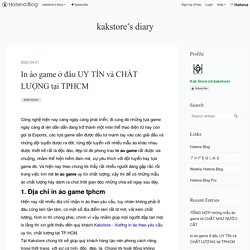 In áo game ở đâu UY TÍN và CHẤT LƯỢNG tại TPHCM - kakstore's diary