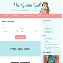 Game Word Generator - The Game Gal