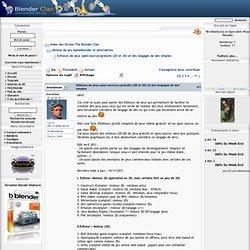 Moteur de jeu GameBlender et alternatives - Des Editeurs de jeux open-sources/gratuits (2D et 3D)
