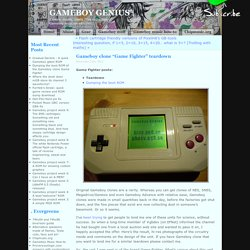"Gameboy Genius » Blog Archive » Gameboy clone ""Game Fighter"" teardown"
