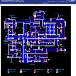 Castlevania: Circle of the Moon (GBA) Game Map by Zeric