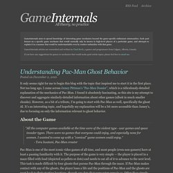 GameInternals - Understanding Pac-Man Ghost Behavior