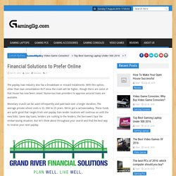Financial Solutions to Prefer Online