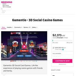 Gamentio - 3D Social Casino Games