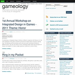 Gameology 2.0 | We study videogames.