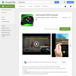 Gamepad MAXJoypad – Applications Android sur Google Play