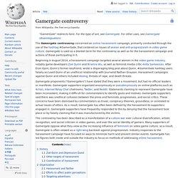 Gamergate controversy - Wikipedia