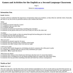Games & Activities for the ESL/EFL Classroom - Page 5