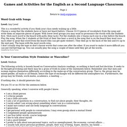 Games & Activities for the ESL/EFL Classroom - Page 2(I-TESL-J)