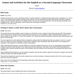 Games & Activities for the ESL/EFL Classroom - Page 6
