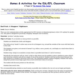 Games & Activities for the ESL/EFL Classroom