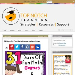 31 Days Of Fun Math Games and Activities