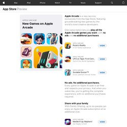 New Games on Apple Arcade : App Store Story