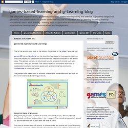 blog: games-ED (Games Based Learning)