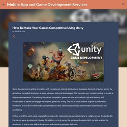 How To Make Your Games Competitive Using Unity