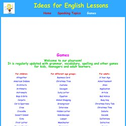 Games for English Lessons