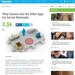 Why Games Are the Killer App for Social Networks