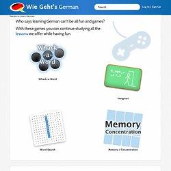 Games to Learn German - Wie Geht's German