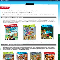 Kids' Games from Nutrition Explorations