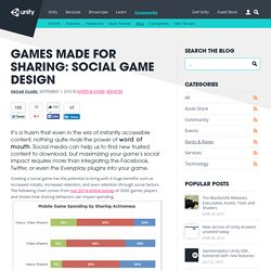 Games Made For Sharing: Social Game Design