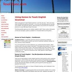 Games to Teach English Grammar