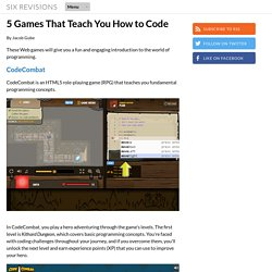 5 Games That Teach You How to Code
