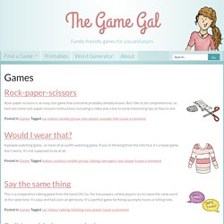 Games - The Game Gal