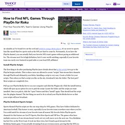 Find NFL Games with PlayOn/Roku