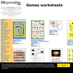 Games worksheets worksheets