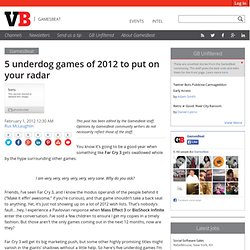 5 underdog games of 2012 to put on your radar | Bitmob.com