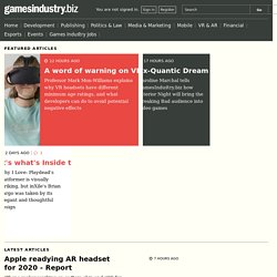 GamesIndustry.biz - games industry news, features, and jobs.