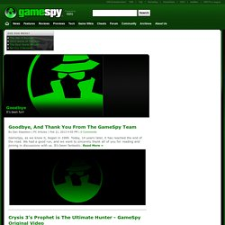 GameSpy: Video Games, PC, Xbox 360, PS3, Wii, DS, PSP