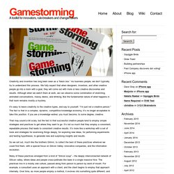 Gamestorming » About